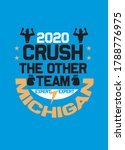 michigan crush the other team,t-shirt design fashion vector