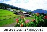 Alpine Village In Summer Italy