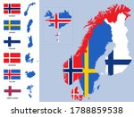 detailed map of scandinavia... | Shutterstock .eps vector #1788859538