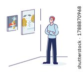 man in art gallery. male at...   Shutterstock .eps vector #1788870968