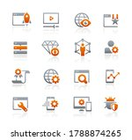 seo and digital marketing icons ... | Shutterstock .eps vector #1788874265