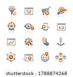 seo and digital marketing icons ... | Shutterstock .eps vector #1788874268