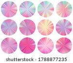 holographic circle metallic...