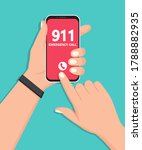hand holding smartphone with...   Shutterstock .eps vector #1788882935