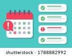calendar deadline with a list... | Shutterstock .eps vector #1788882992