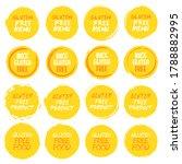 gluten free logo collection.... | Shutterstock .eps vector #1788882995
