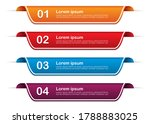 infographic banners with 4... | Shutterstock .eps vector #1788883025
