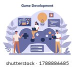 game development concept.... | Shutterstock .eps vector #1788886685