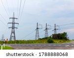 High Voltage Power Line Masts...