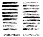 painted grunge stripes set.... | Shutterstock .eps vector #1788923648