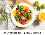 Composition With Plate Of Fresh ...