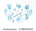 health care isometric concept.... | Shutterstock .eps vector #1788945242