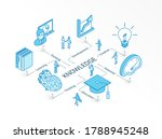 knowledge isometric concept....   Shutterstock .eps vector #1788945248