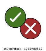 green and red check mark icon....