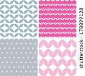 four wavy pink and gray... | Shutterstock .eps vector #178899128