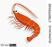 shrimp logo. isolated shrimp on ... | Shutterstock .eps vector #1788998468