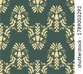 damask seamless pattern vector...   Shutterstock .eps vector #1789003292
