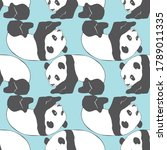 panda seamless pattern vector...   Shutterstock .eps vector #1789011335
