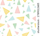 triangle seamless pattern...   Shutterstock .eps vector #1789012685