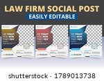 law firm promotional social... | Shutterstock .eps vector #1789013738