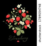 ripe strawberry with fruits and ...   Shutterstock .eps vector #1789054748