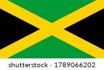 national flag of the jamaica.... | Shutterstock . vector #1789066202