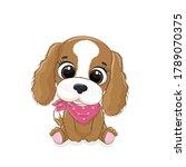 cute baby dog. vector...   Shutterstock .eps vector #1789070375