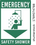 emergency safety shower icon... | Shutterstock .eps vector #1789074788