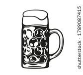 dimpled oktoberfest glass beer... | Shutterstock .eps vector #1789087415