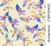 lemon flowers seamless pattern... | Shutterstock .eps vector #1789100435