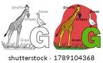 english alphabet coloring book...   Shutterstock .eps vector #1789104368
