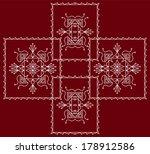 folk  tribal design  motif ... | Shutterstock . vector #178912586