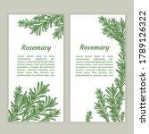 sprig of rosemary. design... | Shutterstock .eps vector #1789126322