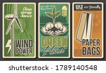 ecology vector banners  green... | Shutterstock .eps vector #1789140548