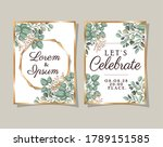 two wedding invitations with...   Shutterstock .eps vector #1789151585
