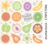 fruity moment background... | Shutterstock .eps vector #178917086