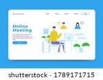 online meeting landing page...