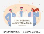 wearing face masks becoming the ... | Shutterstock .eps vector #1789193462
