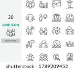 set of people icons  teamwork ... | Shutterstock .eps vector #1789209452