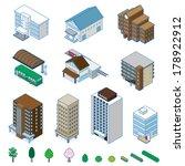 various building   solid figure | Shutterstock .eps vector #178922912