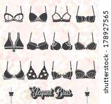 vector set  bra and bustier...   Shutterstock .eps vector #178927565