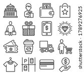 shopping mall icons set on... | Shutterstock .eps vector #1789276925