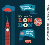 collection of london stickers | Shutterstock .eps vector #178927832