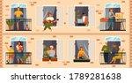 people on balcony....   Shutterstock .eps vector #1789281638