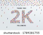 thank you  2k or two thousand...   Shutterstock .eps vector #1789281755