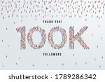 thank you 100k or one hundred...   Shutterstock .eps vector #1789286342