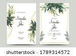 set of wedding invitation card | Shutterstock .eps vector #1789314572