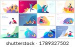 landing page template with... | Shutterstock .eps vector #1789327502
