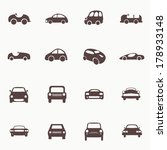 cars icons set different vector ... | Shutterstock .eps vector #178933148