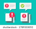 caution and check mark notices... | Shutterstock .eps vector #1789333052